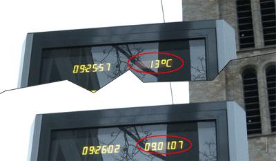 Temperatur am 09.01.2007