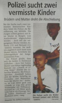 Zeitungsartikel der RN vom 10.01.2007