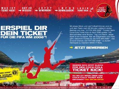 Screenshot von coca-cola-ticketkick.de