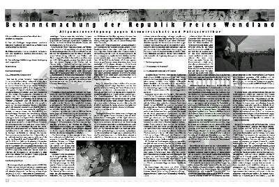 Ausschnitt der Allgemeinverfügung (Seiten 2 und 3)