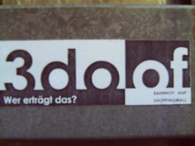 Anti-3do-Sticker in der Dortmunder Nordstadt