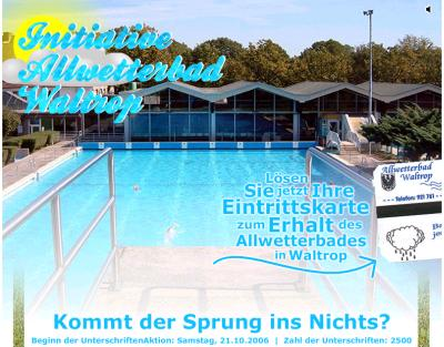 Screenshot von schwimmeninwaltrop.de