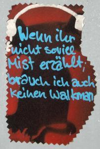 Sticker mit kritischer Aussage. Text says it all.