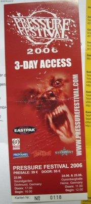 Drei-Tage-Ticket für das Pressure Festival