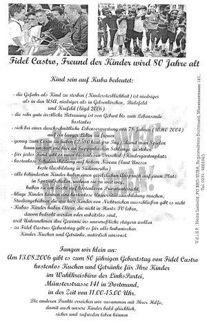 Flyer der Linkspartei Dortmund