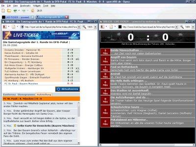 Screenshot von Opera mit zwei Tabs