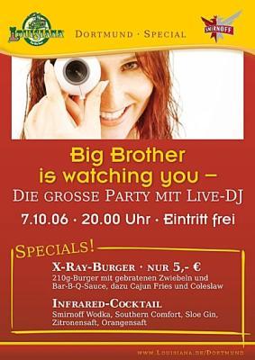 Flyer der Louisiana-Veranstaltung 'Big Brother is watching you'