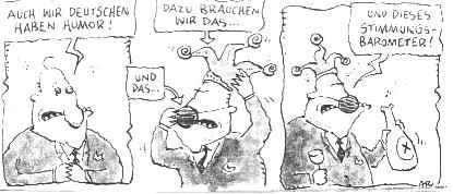 Cartoon zum Thema Humor und Karneval