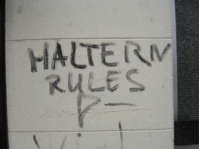 'Haltern rules'-Graffiti in Dortmund-Nord