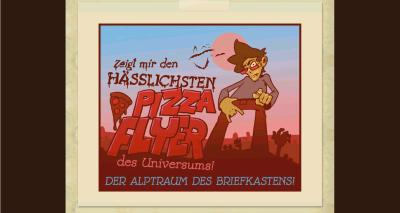 Screenshot hayungs.de, Pizzaflyercontest