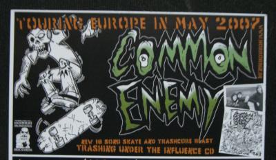 Ankündigung der Common Enemy-Tour Mai 2007
