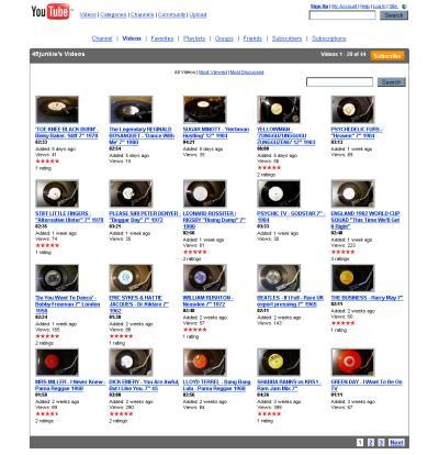 Screenshot der Videoplaylist von youtube-Nutzer 45junkie